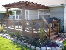mobile home yard design 45 great manufactured home porch designs deck design pergolas and