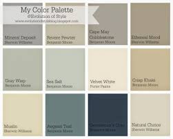 color palettes for home interior best 25 interior paint colors