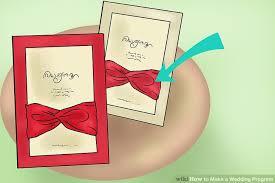 how to make wedding programs 3 ways to make a wedding program wikihow