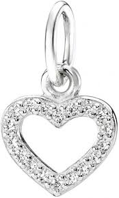 pandora silver necklace images Pandora women 39 s 390325cz open heart silver pave necklace pendant jpg