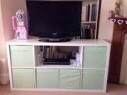 Ikea Dvd Box by Very Quick Ikea Hack U2013 Expedit Kallax Bookshelf To Tv Bench With