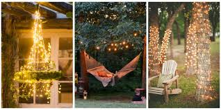 How To String Christmas Tree Lights by 18 Backyard Lighting Ideas How To Hang Outdoor String Lights