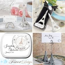 eiffel tower favors plan a wedding around with eiffel tower themed favors