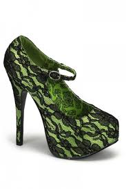 lime green black satin lace maryjane heels heel shoes online store