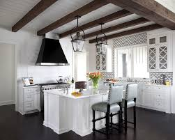 Cabinets New Orleans New Orleans Exposed Wood Beams Kitchen Transitional With Marble