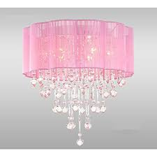 Chandelier Pink 6 Light Pink Chandelier For Rooms With Chrome And