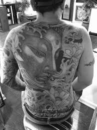 collection of 25 black and white back buddha tatoo