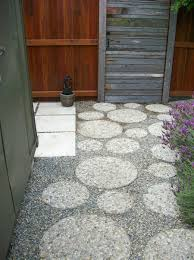 Concrete Paver Patio Designs by Patio Design Ideas Mixed Materials Round Pavers Exposed
