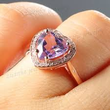 amethyst engagement rings online get cheap amethyst rose gold engagement ring aliexpress