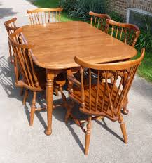i have an ethan allen nutmeg 10 6020 dining table 6 chairs and