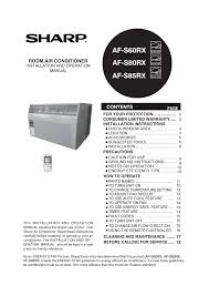sharp air conditioner remote control instructions the best