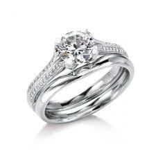 plain engagement ring with diamond wedding band romm diamonds maevona bridal diamond engagement rings and