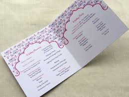 wedding reception programs sle wording what goes in a wedding program imbue you i do