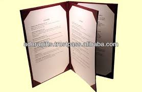 menu covers wholesale food menu cover design from indian factory excellent fashion
