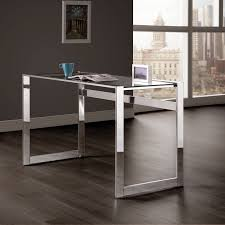 Glass Topped Computer Desk Coaster Furniture Chrome Computer Desk With Glass Top Hayneedle