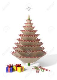 christmas tree made with a pencil and its wooden shavings with