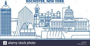 usa new york rochester winter city skyline merry and