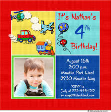 4th birthday invitation cards images invitation design ideas