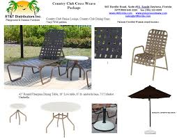Country Outdoor Furniture by Country Club Cross Weave Vinyl Outdoor Furniture Package Et U0026t
