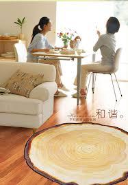children area rugs 90x100cm pastora annual ring round 3d carpet for bedroom computer