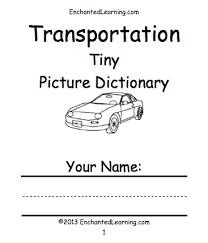 transportation vehicles enchantedlearning