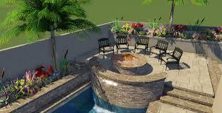 Grill Backyard by Clear Flo Pools Inc Backyard Makeover Man Cave Grill