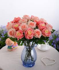 cheap artificial flowers 11pcs lot cheap colorful silk wedding flower bouquet