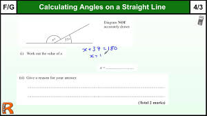 angles on a straight line gcse maths foundation revision exam