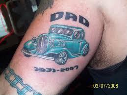 in loving memory dad car tattoo on left bicep jpg 1600 1200