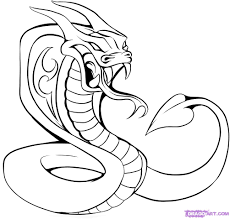 images of cobras how to draw a cobra tattoo step by step