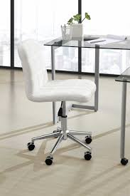 white office chair armless white leather desk chair armless desk chair