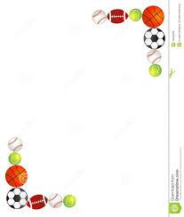 sport balls border frame stock vector image of artwork 19592806