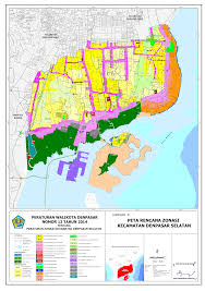 Zoning Map Land Zone Map For Sanur And Denpasar