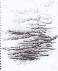 drawn cloud pen and ink pencil and in color drawn cloud pen and ink