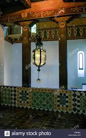 the spanish moorish design influence inside the santa barbara