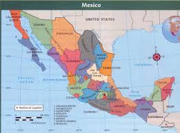 Central America Map With Capitals Physical Map Of Mexico And Central America Political Map Of South