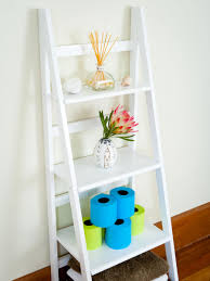 Diy Shelf Leaning Ladder Wall by Bathroom Light And Bright Colors Bathroom Wall Vanity Over The