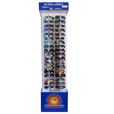 two sided sunglass display floor model cardboard display 7002