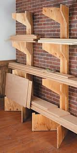 Wood Storage Shelf Designs by Best 25 Lumber Rack Ideas On Pinterest Wood Storage Rack