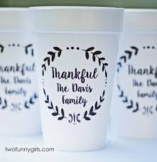thanksgiving cups personalized thanksgiving cups