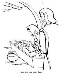 mary joseph baby jesus bible christmas story coloring