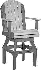 Hton Bay Swivel Patio Chairs Luxcraft Adirondack Swivel Chair From Dutchcrafters Amish Furniture