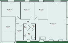 plan de maison plain pied 3 chambres avec garage plan maison plain pied 110m2 fresh plan maison plain pied 4 chambres