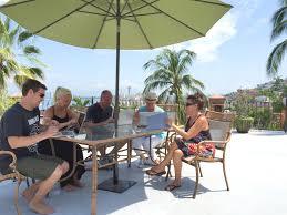 Corona Patio Umbrella by Corporate Retreats Casa Corona Vallarta