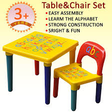 childrens table and chair set with storage tinxs kids childrens furniture alphabet learn play abc table and