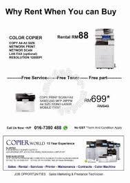 mesin fotocopy color copy print scan fax professional business