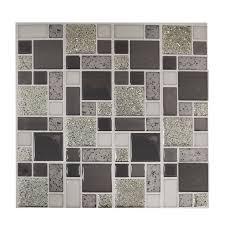 self adhesive glitter mosaic tile wall stickers kitchen bathroom