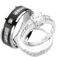 titanium wedding ring sets new infinity his and hers set titanium wedding rings matching set