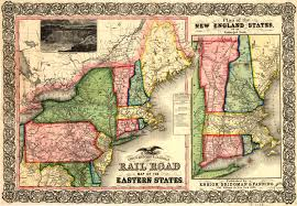 Map Eastern United States by Ensign Bridgman U0026 Fanning U0027s Rail Road Map Of The Eastern United