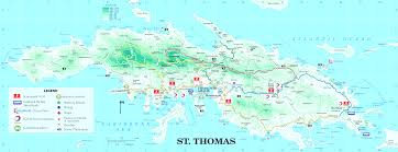 st croix caribbean map st croix map travel vacations travelsfinders also caribbean at